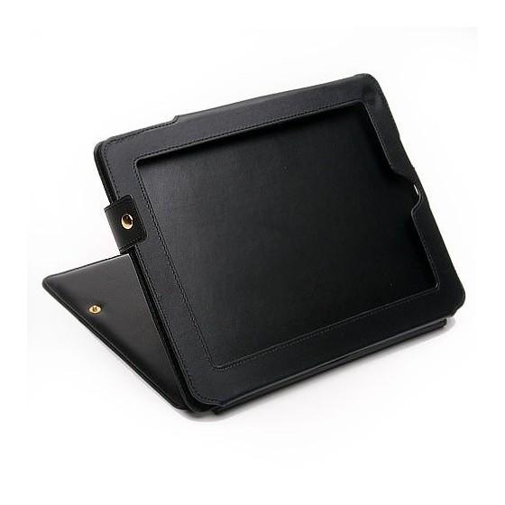 Funda para Ipad Polipiel Negra con pie soporte Barata