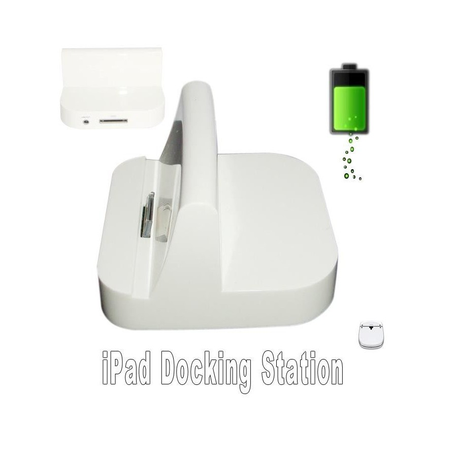 Soporte pie Dock Base Cargador para Ipad Blanco Barato