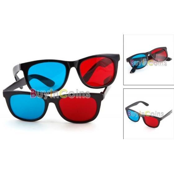 Gafas 3D Plastico Azul y Rojo ver Peliculas y Juegos en 3 dimensiones baratas