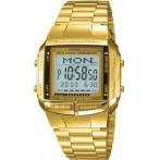 Reloj Digital Casio 360 Retro DataBank Fashion Dorado Barato