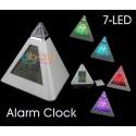 Despertador Digital Led Colores Piramide Con Termometro Barato