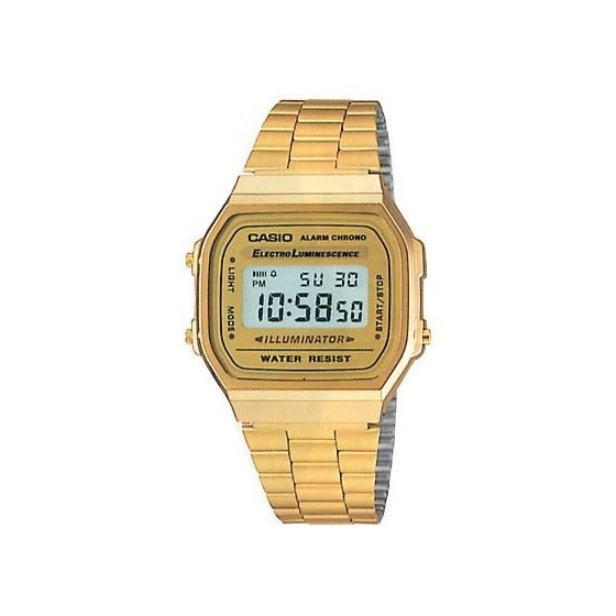 Reloj Digital Casio a168 Retro Vintage Fashion Dorado Barato