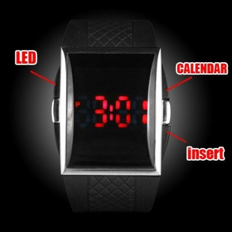 Reloj Digital Fashion de Led Rojos Barato