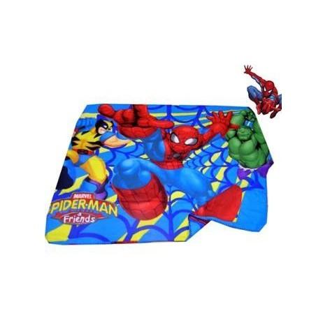Manta Polar Spiderman Infantil Azul y Roja Barata