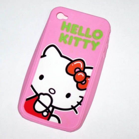 Funda de Silicona Iphone 4 de Hello Kitty Barata
