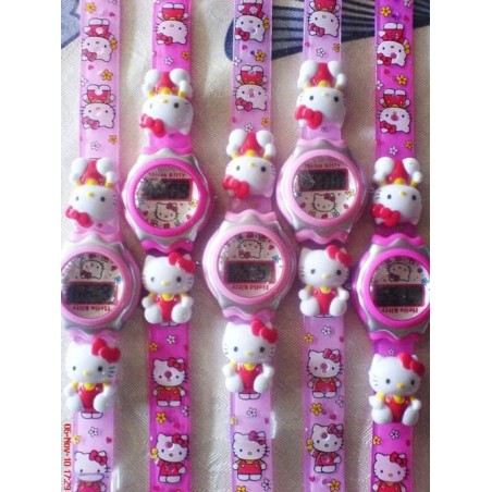 Reloj Hello Kitty Digital Infantil de Goma Barato