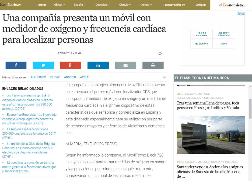 MovilTecno.com en el Economista