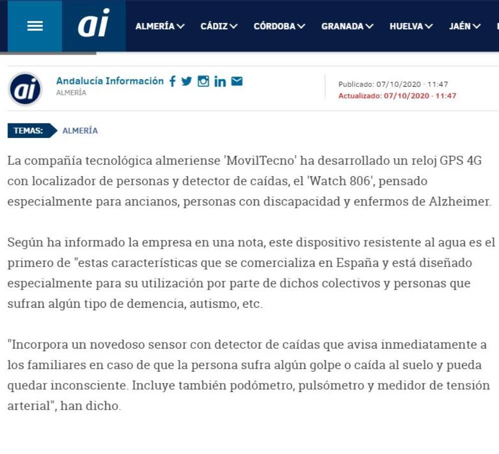 MovilTecno.com 806 en Andalucía Información