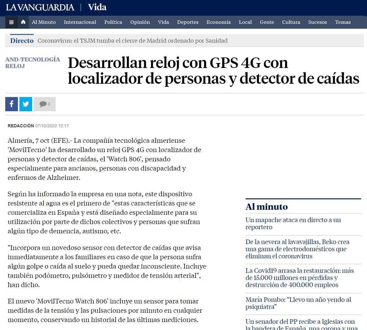 MovilTecno.com 806 en La Vanguardia
